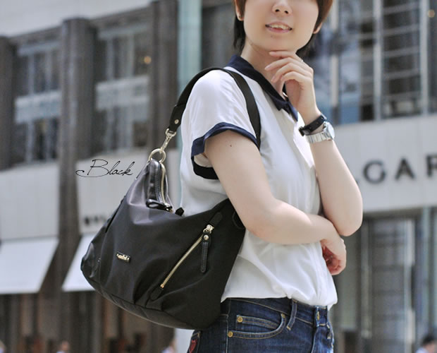 【ancheri】ナイロンワンショルダーバッグ